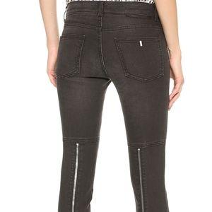 Stella McCartney Black Zipper Moto Skinny Jeans 30